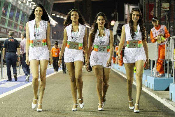 Sahara Force India F1 Team Divas. Singapore Grand Prix, Saturday 22nd September 2012. Marina Bay Street Circuit, Singapore.